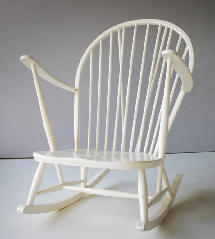 Lacquered Rocking Chair by Lucian Ercolani for Ercol For Sale