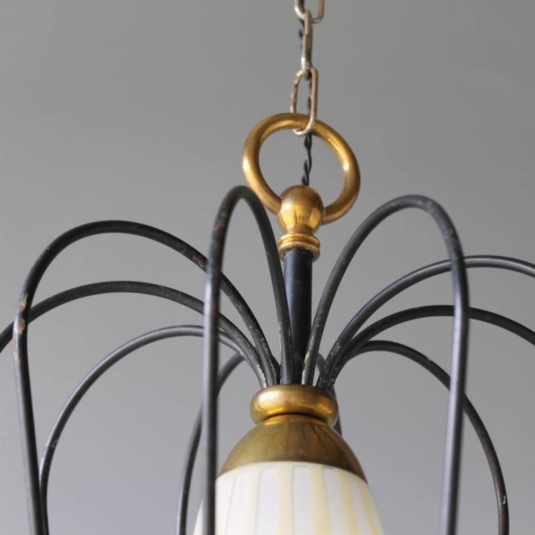Italian Pendant in the Style of Stilnovo For Sale 3