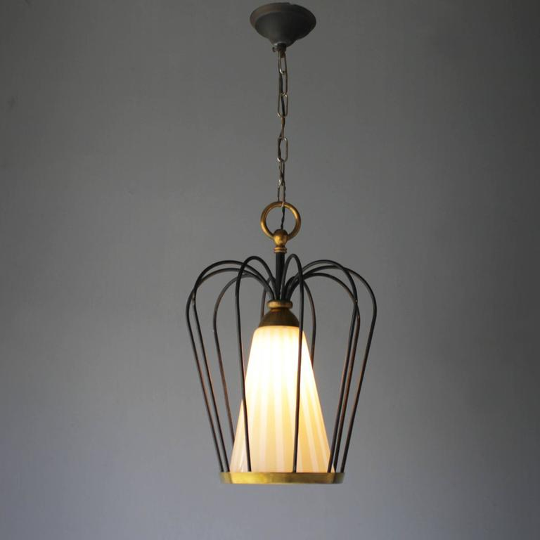 Italian Pendant in the Style of Stilnovo In Excellent Condition For Sale In Amsterdam, NL