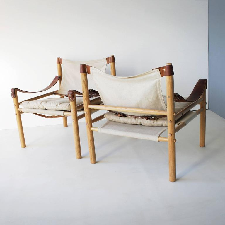 Genial Scandinavian Modern Pair Of U0027Sciroccou0027 Canvas Safari Chairs By Arne Norell  ...