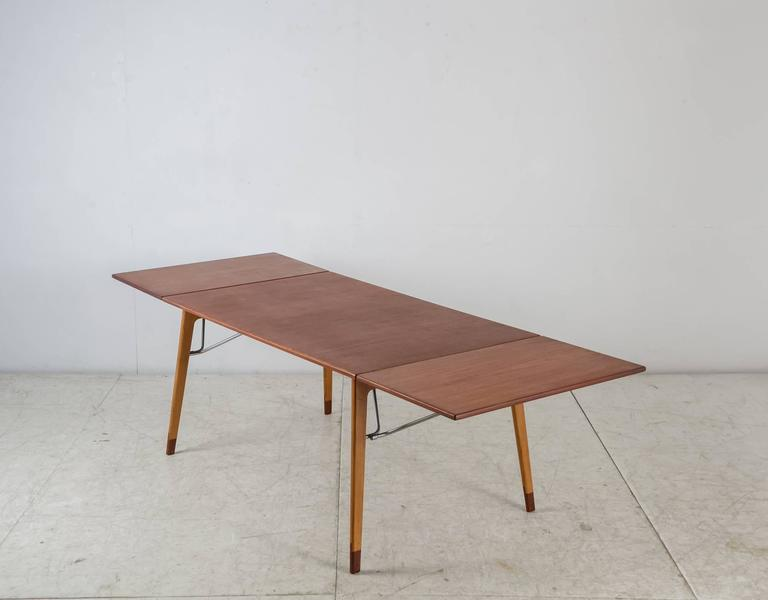 Børge Mogensen Double Drop Leaf Table For Søborg, Sweden, 1950s 2