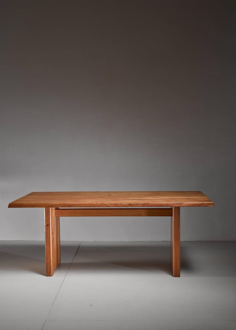 Mid-Century Modern Large Pierre Chapo Dining Table, France, 1960s For Sale