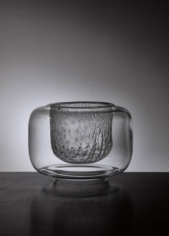 Scandinavian Modern Pair of Timo Sarpaneva Glass Bowls for Iittala, Finland, 1960s For Sale