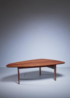 Large Free-Form Danish Rosewood Coffee Table, 1960s