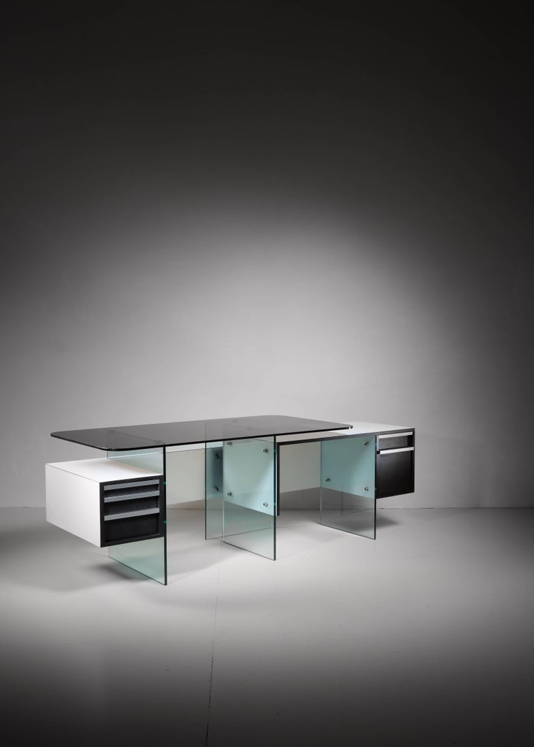 French Xavier Marbeau Very Rare Modular Positioning Desk, France, 1960s For Sale