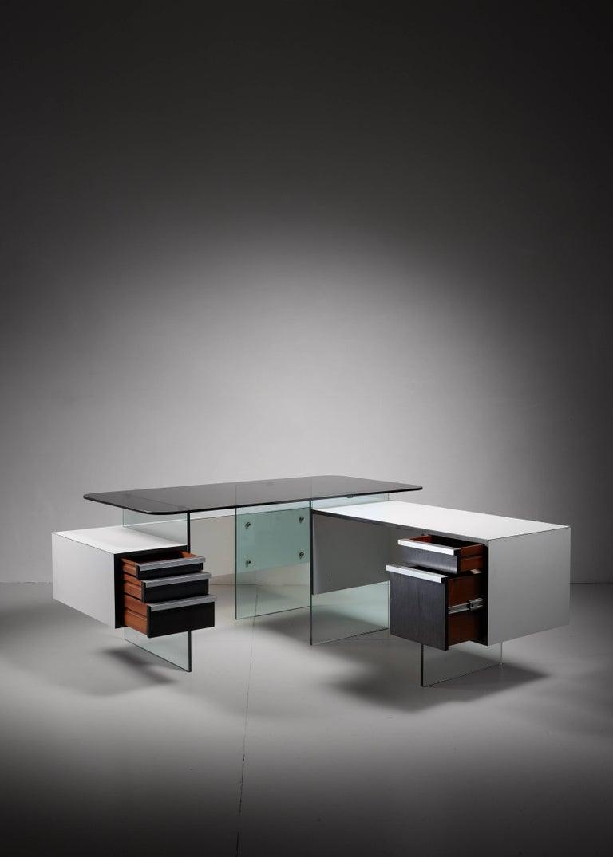 Mid-Century Modern Xavier Marbeau Very Rare Modular Positioning Desk, France, 1960s For Sale