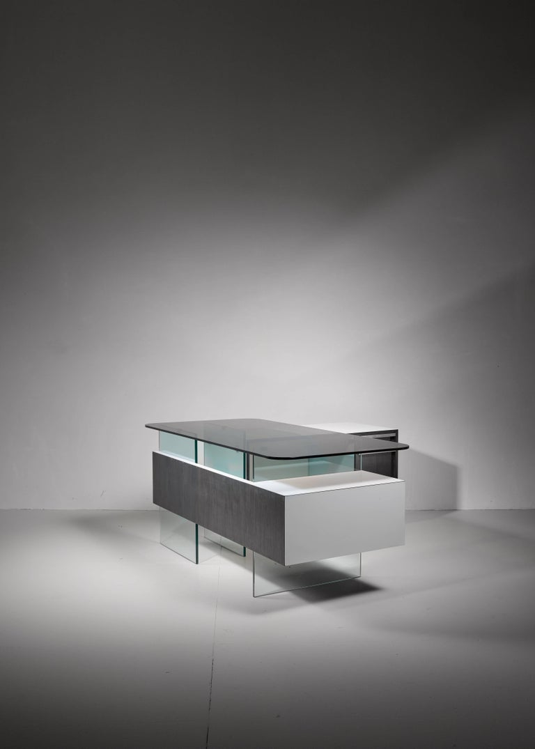 Mid-20th Century Xavier Marbeau Very Rare Modular Positioning Desk, France, 1960s For Sale