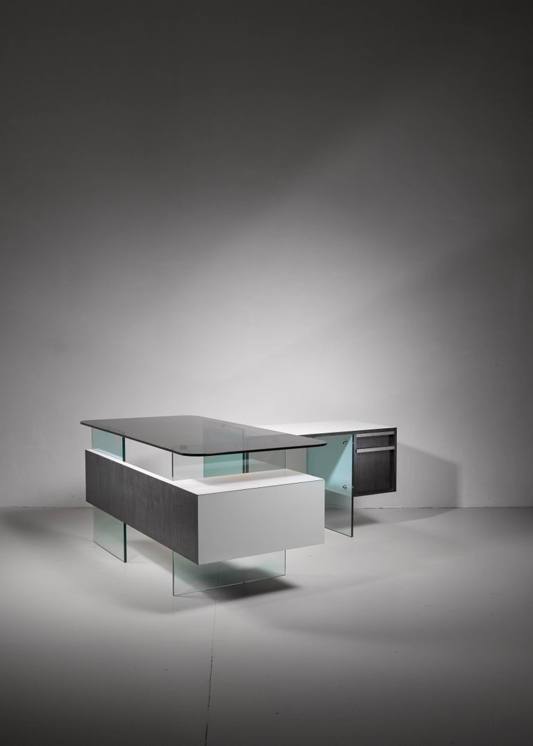 Stainless Steel Xavier Marbeau Very Rare Modular Positioning Desk, France, 1960s For Sale