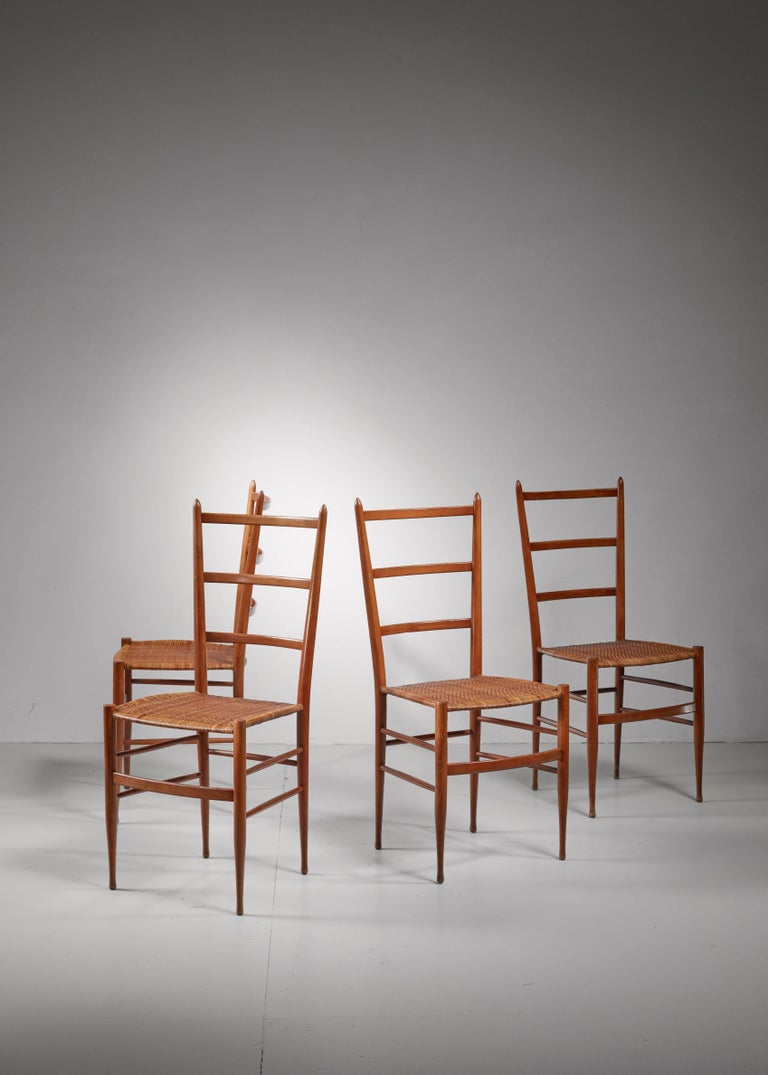 Set of Four Chiavari Chairs, Italy, 1950s In Excellent Condition For Sale In Maastricht, NL
