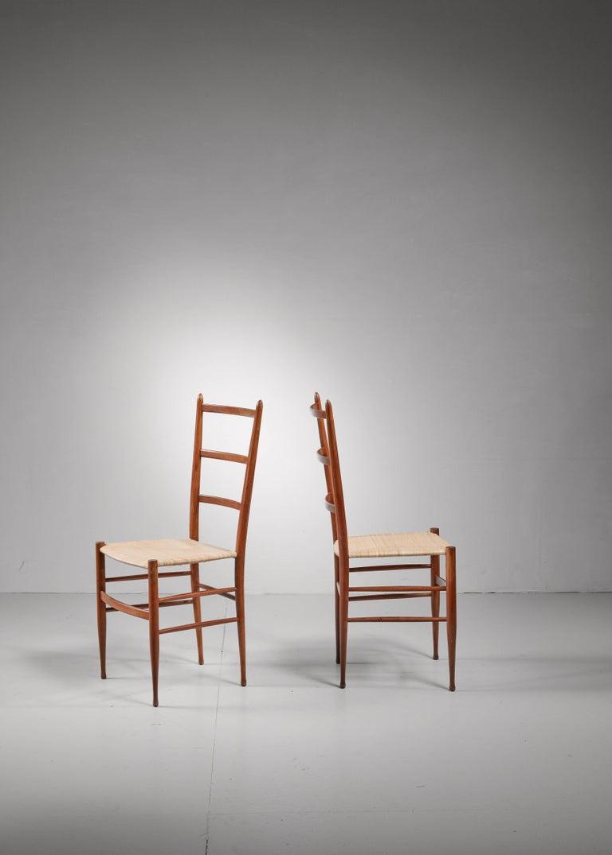 Italian Pair of Chiavari chairs, Italy For Sale