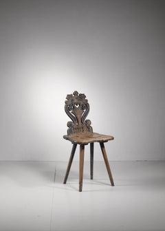 Swedish folk art chair, 19th century