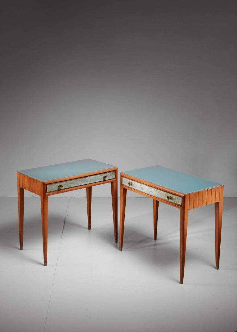 Modern Osvaldo Borsani Unique Pair of End Tables, Italy, 1930s For Sale