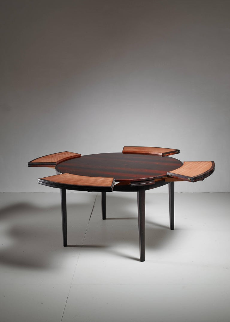 Danish Dyrlund Flip-Flap Lotus Dining Table, Denmark, 1960s For Sale