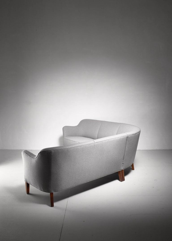 Danish Large Corner Sofa, Denmark, 1940s For Sale