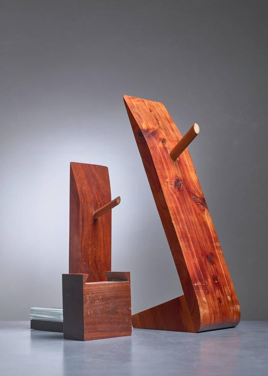American Craftsman Pair of David Rogers Bookends, USA, 1980s For Sale