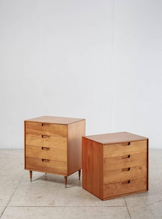 Modular Chest Of Drawers In Birch Usa 1950s Excellent Condition For