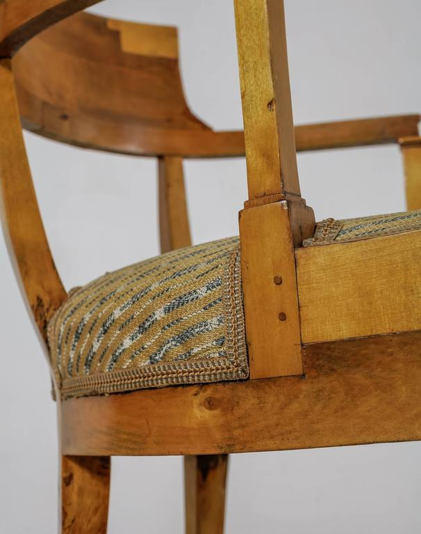 Pair of Alfred Grenander Attributed Birch Armchairs, Sweden, Late 19th Century For Sale 2