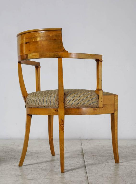 Pair of Alfred Grenander Attributed Birch Armchairs, Sweden, Late 19th Century In Good Condition For Sale In Maastricht, NL
