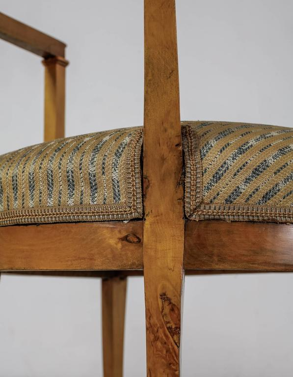 Pair of Alfred Grenander Attributed Birch Armchairs, Sweden, Late 19th Century For Sale 1