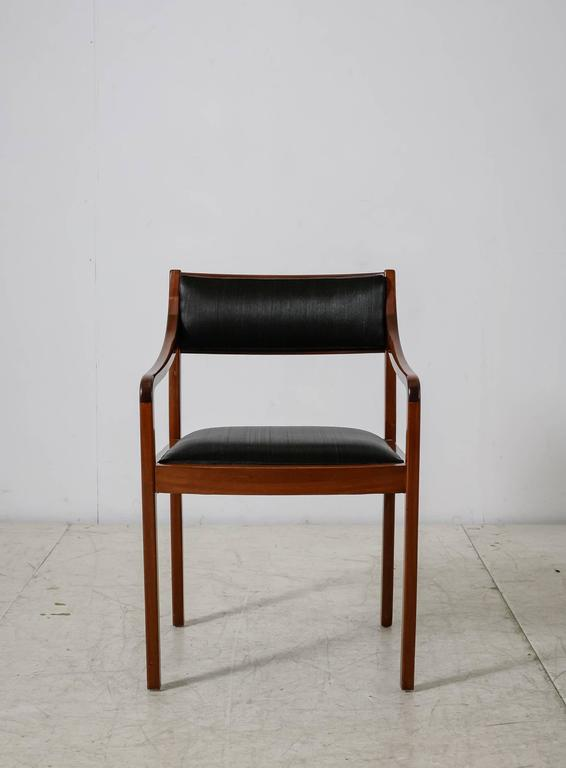 Mahogany Armchair with Black Horsehair Upholstery, Denmark, 1950s In Good Condition For Sale In Maastricht, NL