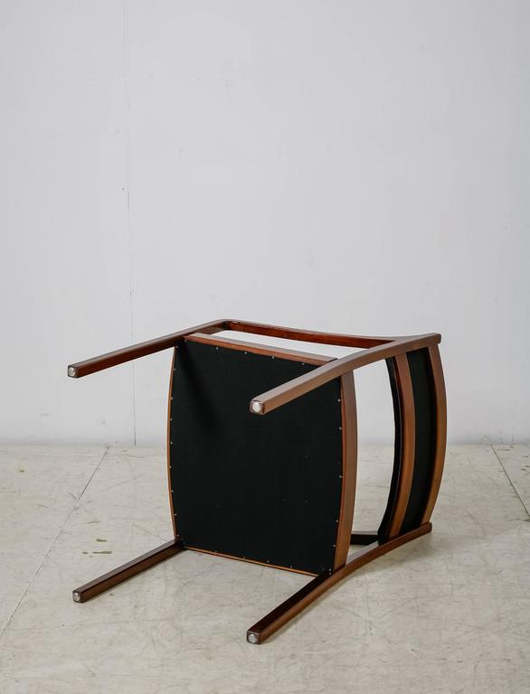 Mahogany Armchair with Black Horsehair Upholstery, Denmark, 1950s For Sale 1