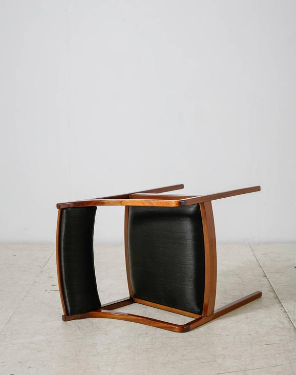 Mid-20th Century Mahogany Armchair with Black Horsehair Upholstery, Denmark, 1950s For Sale