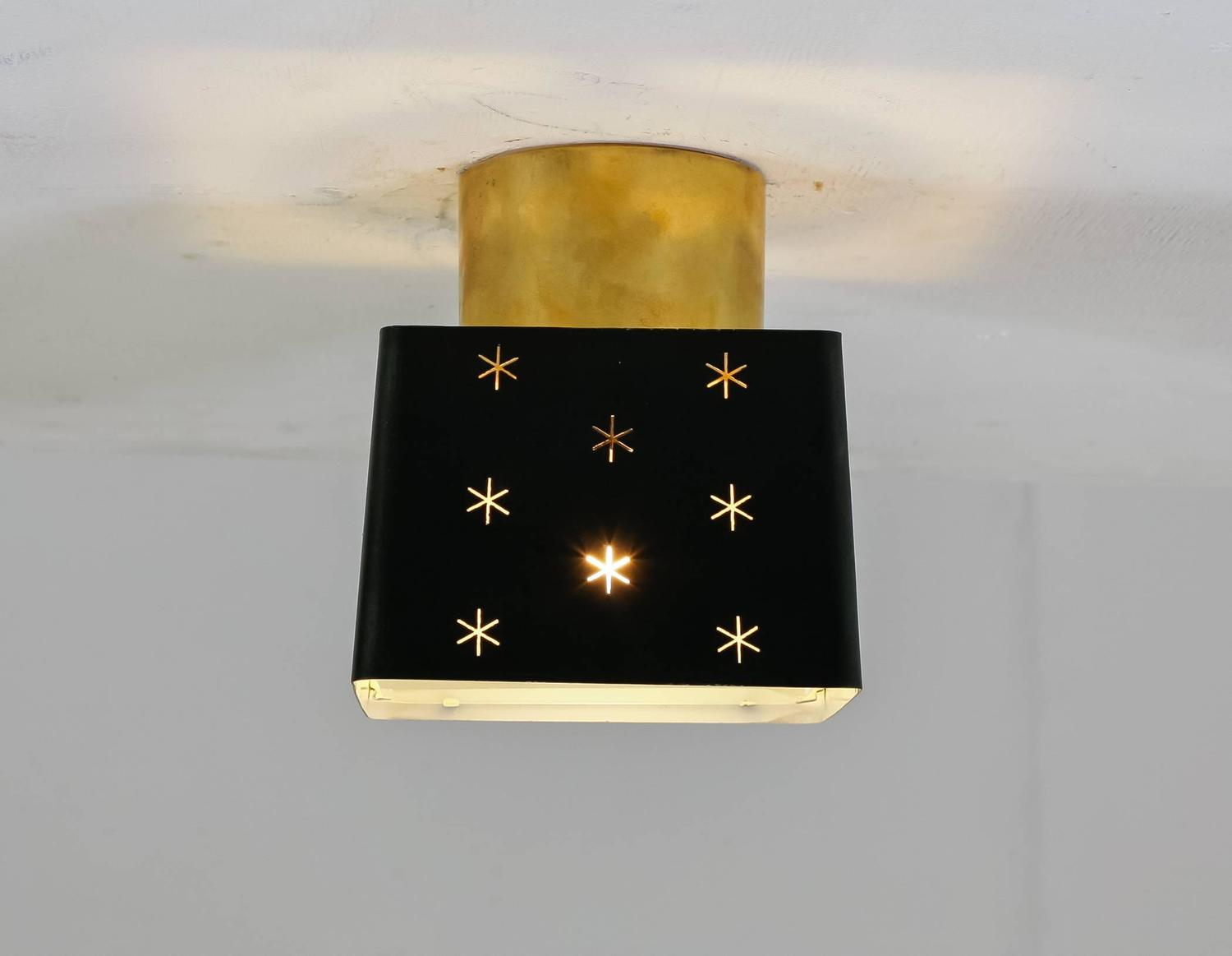 very rare paavo tynell flush mount with star shaped
