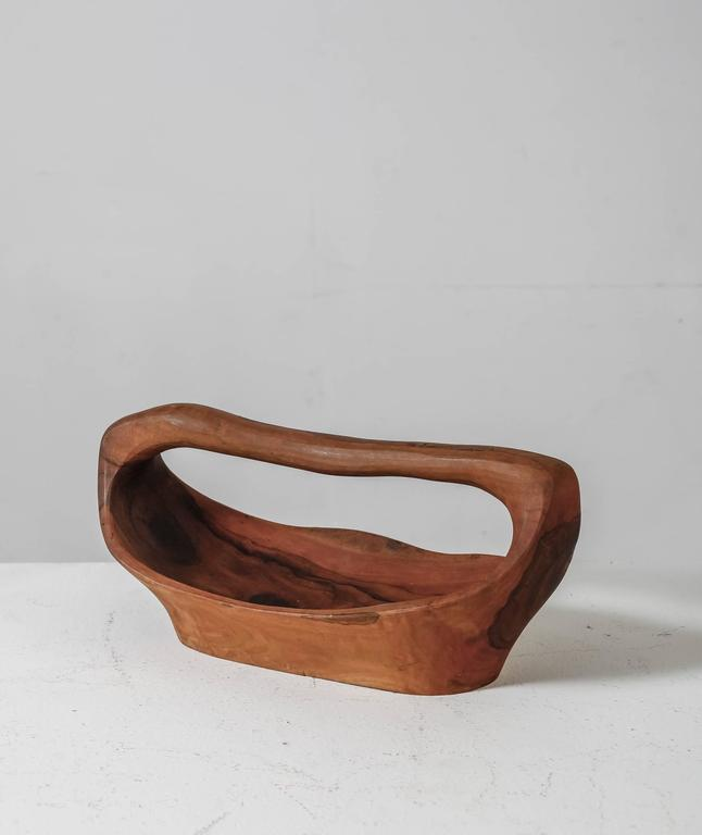 Pair of Sculptural Wooden Bowls, France, 1950s In Good Condition For Sale In Maastricht, NL