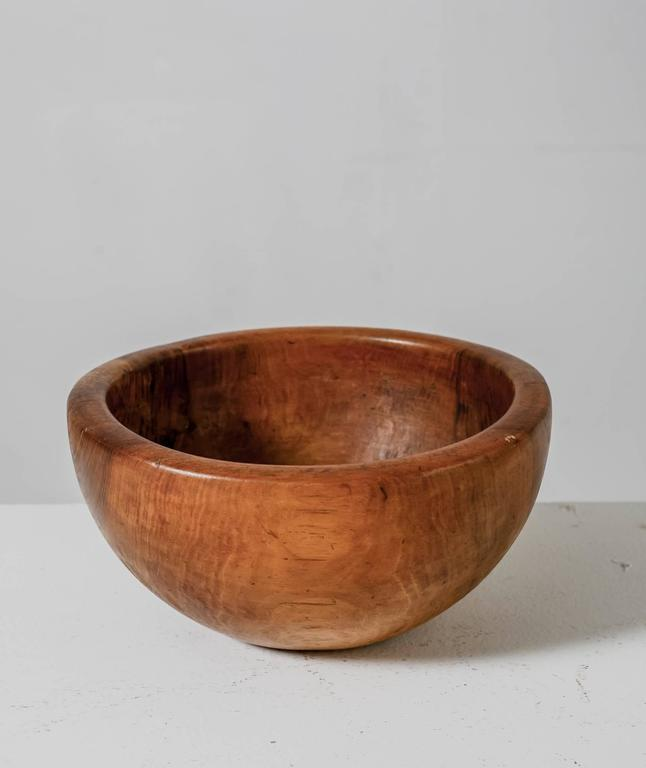 Mid-20th Century Pair of Sculptural Wooden Bowls, France, 1950s For Sale