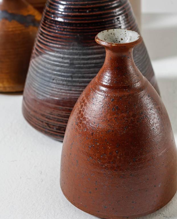Franco Agnese Collection of Seven Ceramic Vases, France, 1960s For Sale 1
