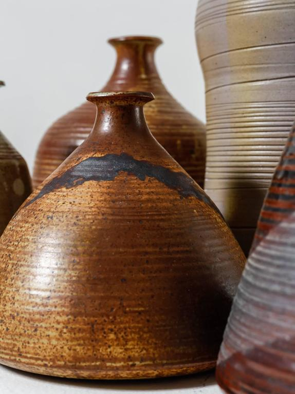 Mid-20th Century Franco Agnese Collection of Seven Ceramic Vases, France, 1960s For Sale