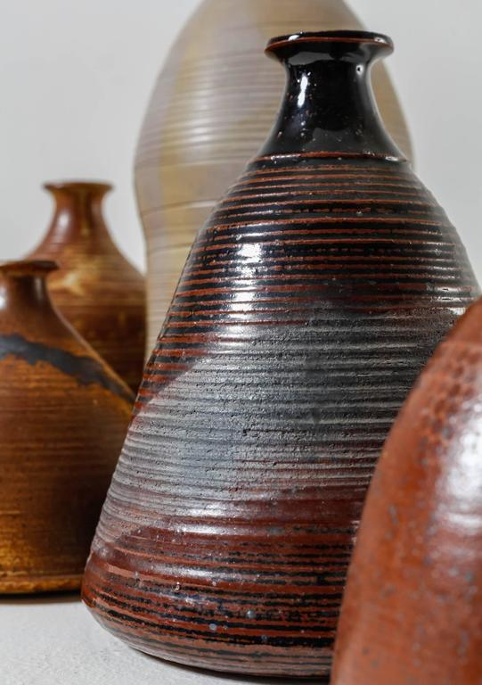 Franco Agnese Collection of Seven Ceramic Vases, France, 1960s In Good Condition For Sale In Maastricht, NL
