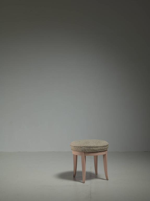 Paul Frankl Swiveling Oak Stool, USA, 1944 3