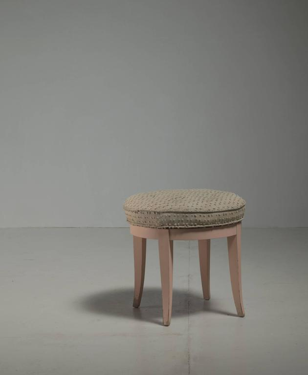 Paul Frankl Swiveling Oak Stool, USA, 1944 2