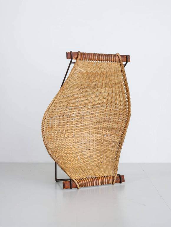 John Risley Metal and Rattan Duyan Lounge Chair, USA, 1950s In Excellent Condition For Sale In Maastricht, NL