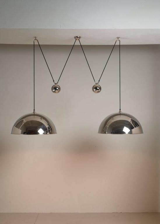 Florian Schulz Double Nickel Posa Pendants with Counterweights, Germany In Excellent Condition For Sale In Maastricht, NL