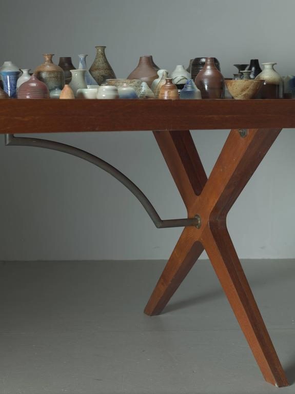 L.E Brevilly Extremely Large Boomerang Shaped Desk, France, circa 1965 6