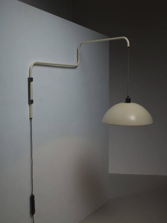 Swiveling, Height-Adjustable Wall Lamp, 1950s For Sale at 1stdibs