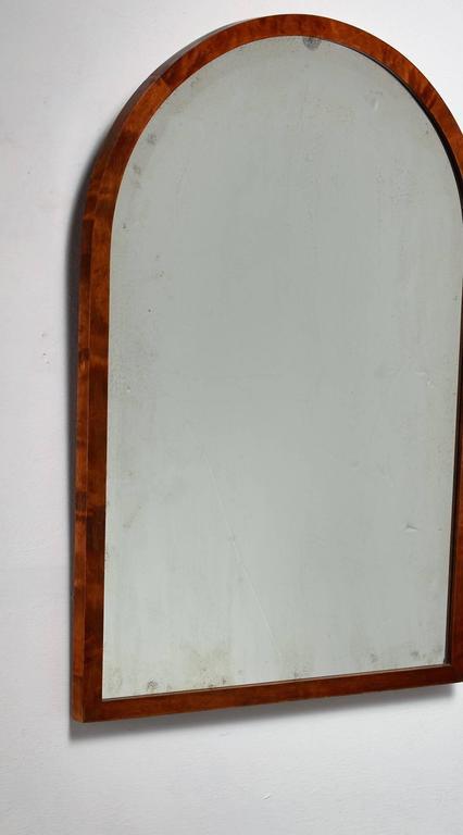 Scandinavian Modern Svenska Möbelfabrikerna Birch Wall Mirror, Bodafors, Sweden, 1930s For Sale
