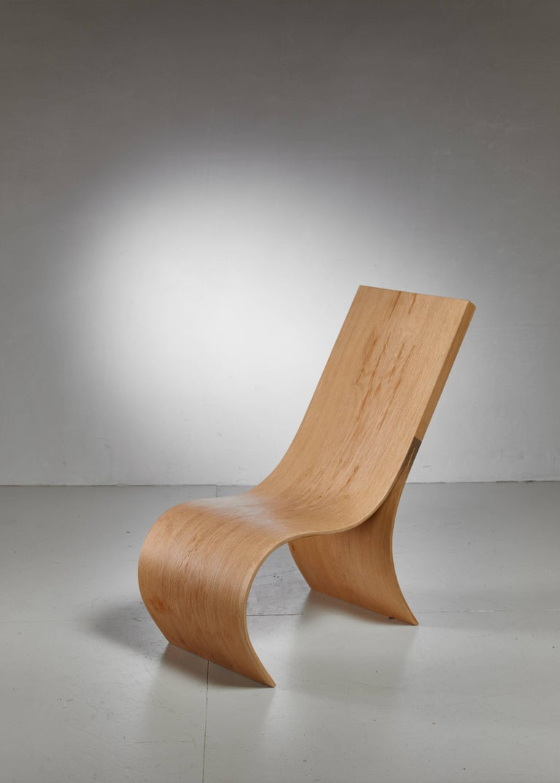 Organic Modern Kaspar Hamacher Oak Lounge, Belgium For Sale