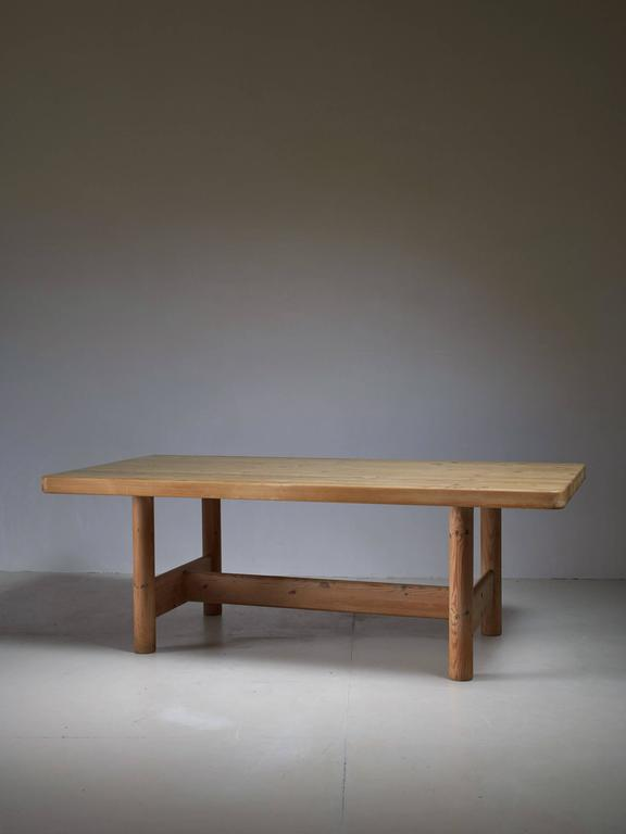 a very rare and large pine dining table by the danish architects knud friis and elmar - Pine Dining Table