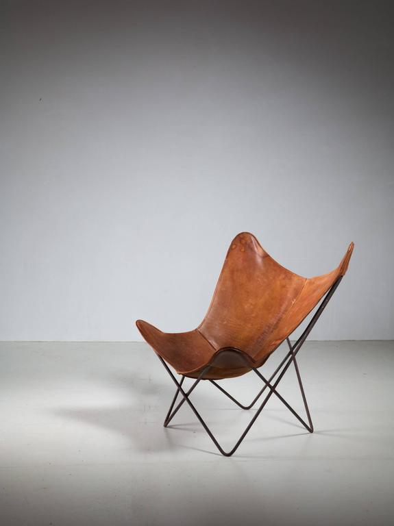 Jorge Ferrari Hardoy Butterfly Chair For Knoll 1950s For Sale At 1stdibs
