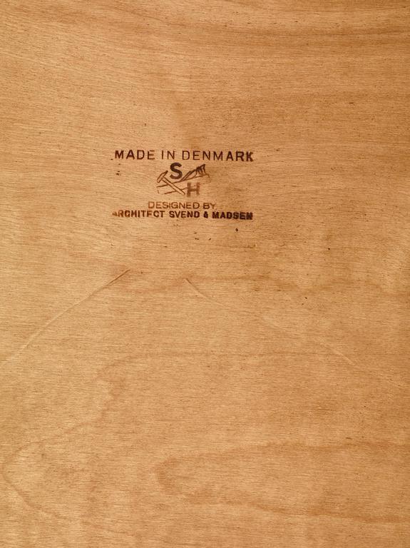 Svend Aage Madsen Freestanding Desk for Sigurd Hansen, Denmark, 1950s 4