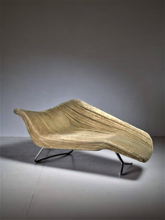 Rare Hans Hartl Sculptural Chaise Longue, Denmark, 1950s For Sale at ...