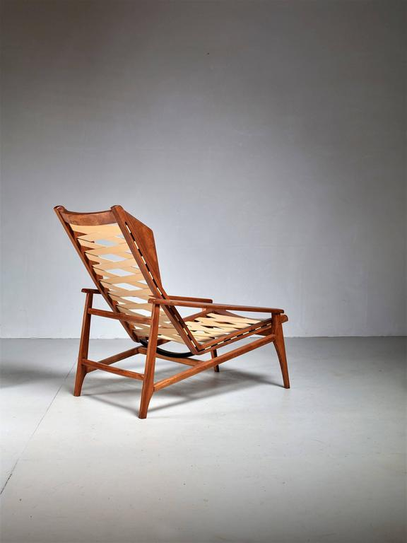 Mid-Century Modern Variation on Gio Ponti Lounge Chair, Italy, 1950s For Sale
