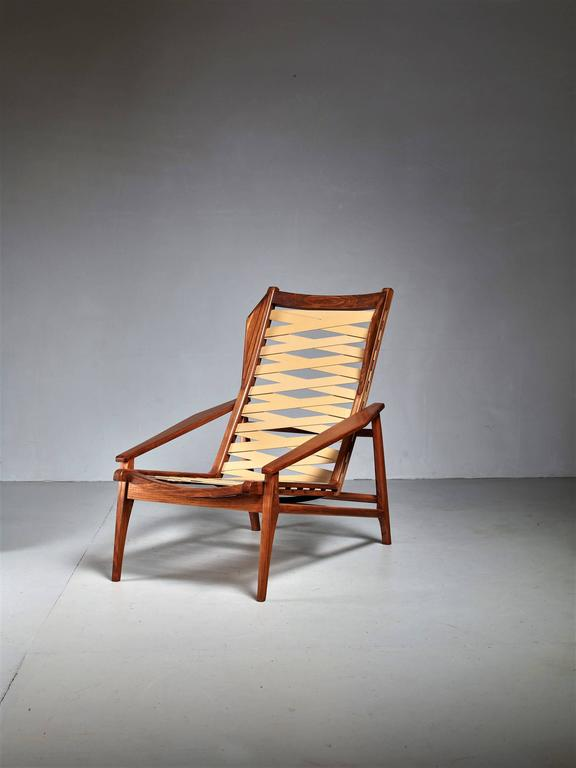 Italian Variation on Gio Ponti Lounge Chair, Italy, 1950s For Sale