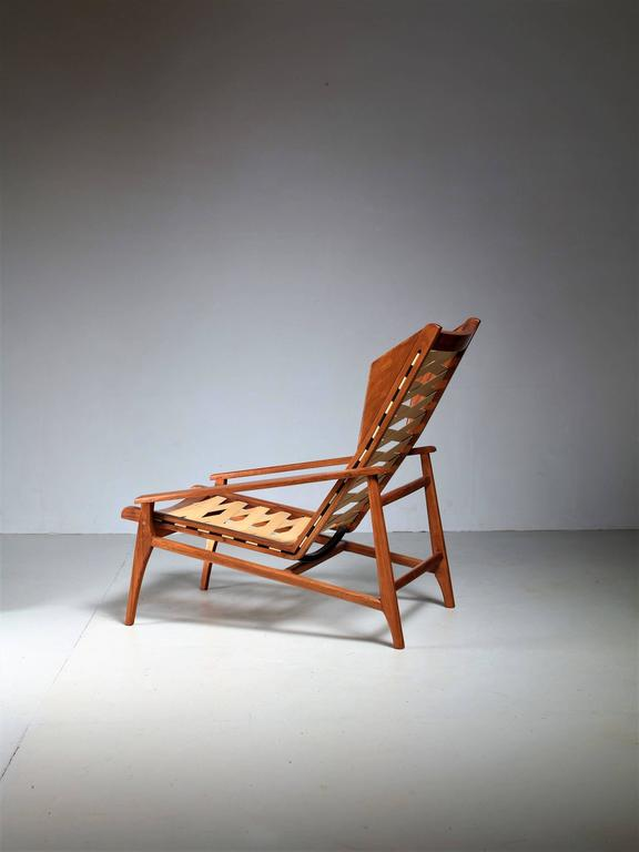 Variation on Gio Ponti Lounge Chair, Italy, 1950s In Excellent Condition For Sale In Amsterdam, NL