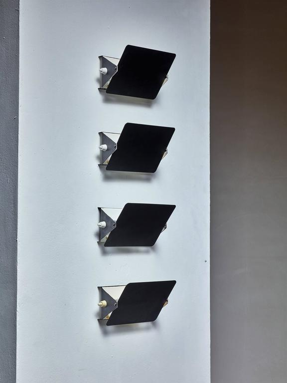 charlotte perriand set of four cp1 appliques france 1960s at 1stdibs. Black Bedroom Furniture Sets. Home Design Ideas