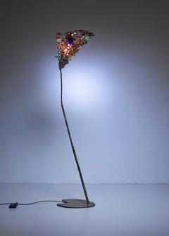 Foto, Salvino Marsura Unique Floor Lamp, Italy, 1980s