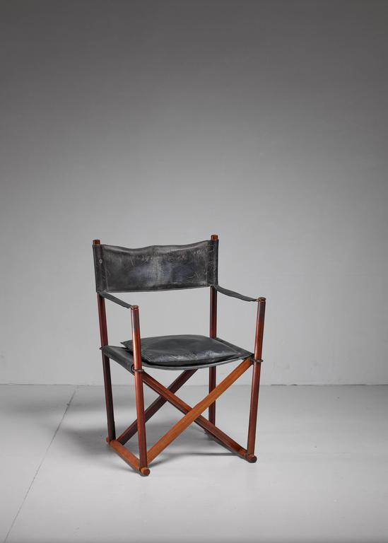Mogens Koch Mk 16 Safari Chair For Interna In Rosewood